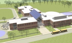Article 1 - New School - Exterior View from Southeast
