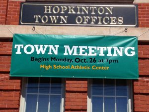 Special Town Meeting October 26, 2015