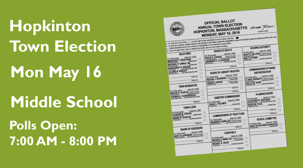 Candidate Statements for May 16 Town Election