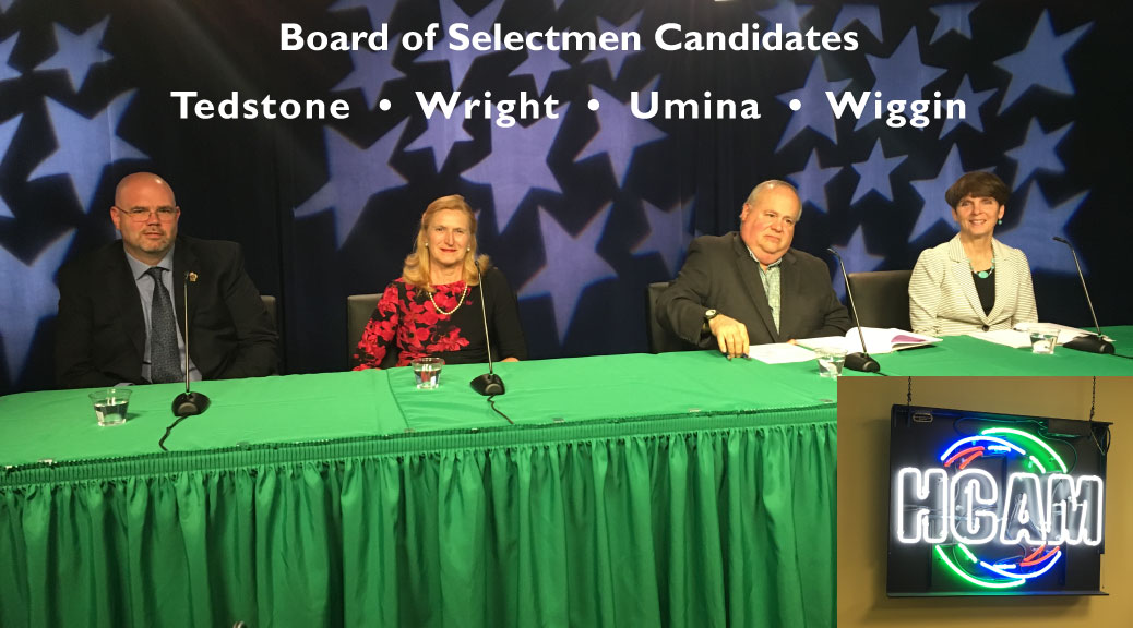 Watch the Selectmen Candidates Debate on the HCAM YouTube Channel