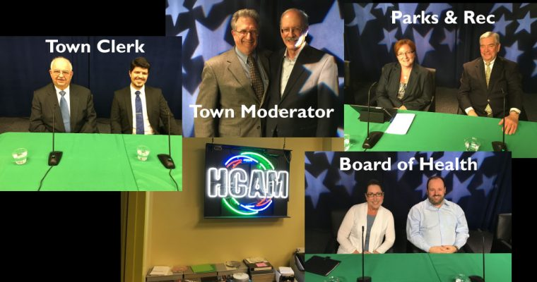 Watch the Debate for Town Clerk, Town Moderator, Board of Health and Parks & Recreation
