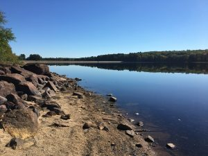 Signs of Drought at Hopkinton Reservoir