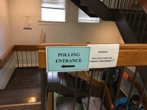 Early Voting in Town Hall Basement