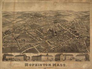 Hopkinton MA 1880 Map
