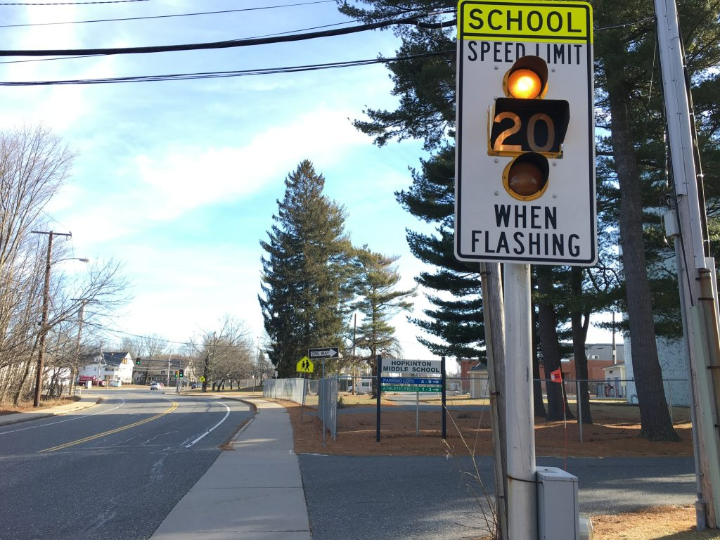 Hayden Rowe School Zone at Middle School