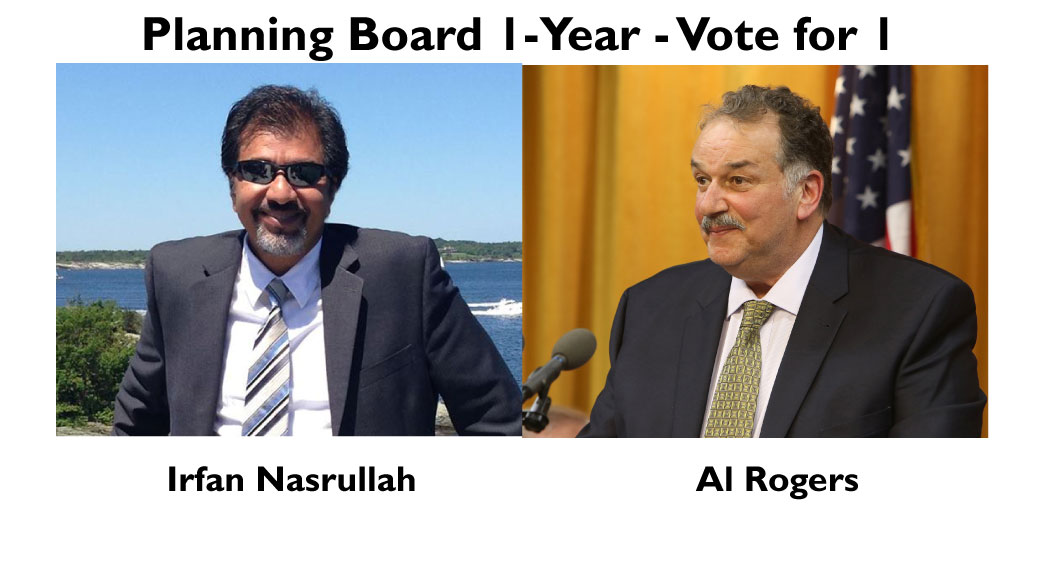 Learn More about the Planning Board 1-Year Candidates