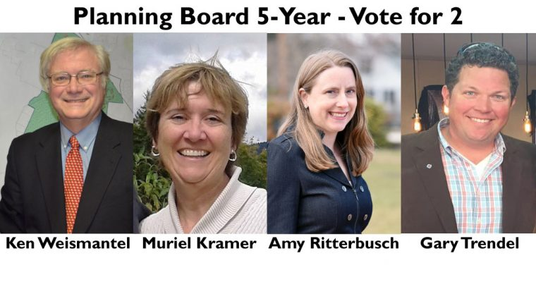 Learn More about the Planning Board 5-Year Candidates