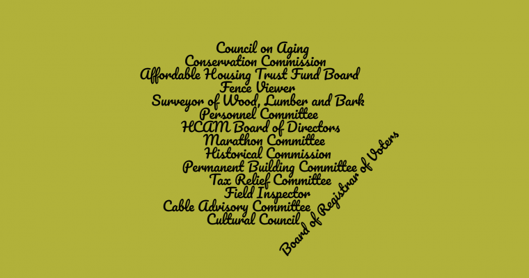 Volunteer Openings on Hopkinton Town Committees