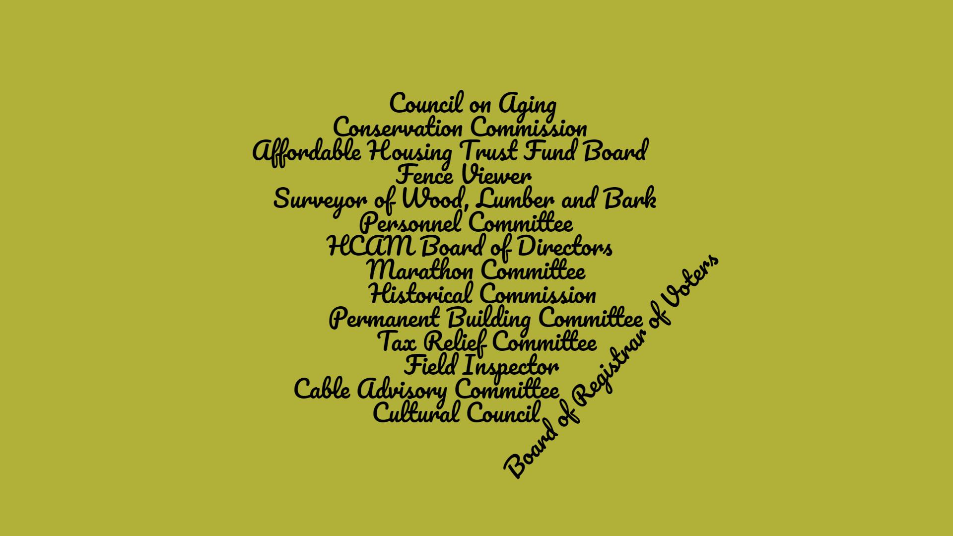 Volunteer Openings on Hopkinton Town Committees