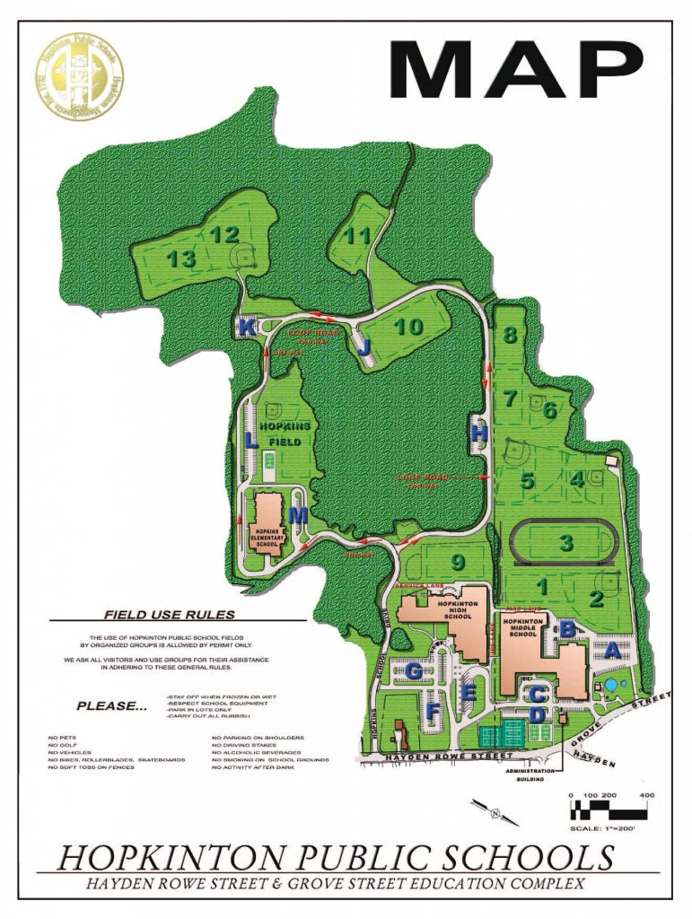 Current HPS Athletic Campus Map