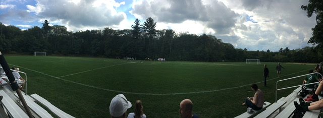 Hopkinton High School Field 13 panorama, prior to vandalism on September 23, 2017, that rendered the field unplayable for the remainder of the 2017 fall season.