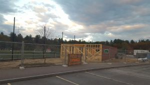 Construction of snack and shelter pavilion underway at Fruit Street Athletic Complex