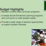Budget Highlights continued