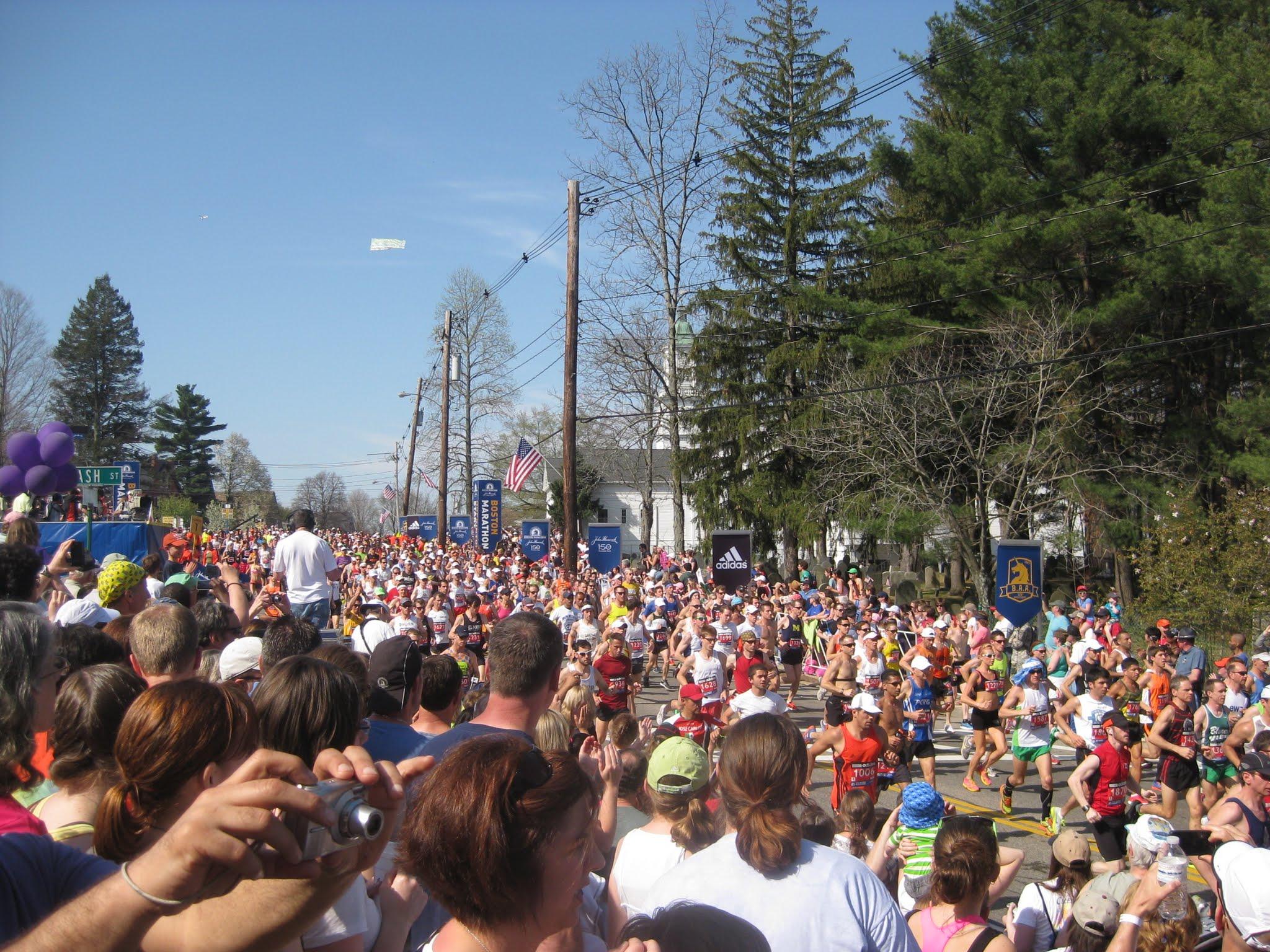 Boston Marathon in Hopkinton