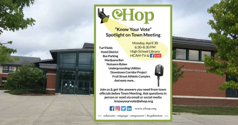 """6th Annual """"Know Your Vote"""" Spotlight on Town Meeting"""