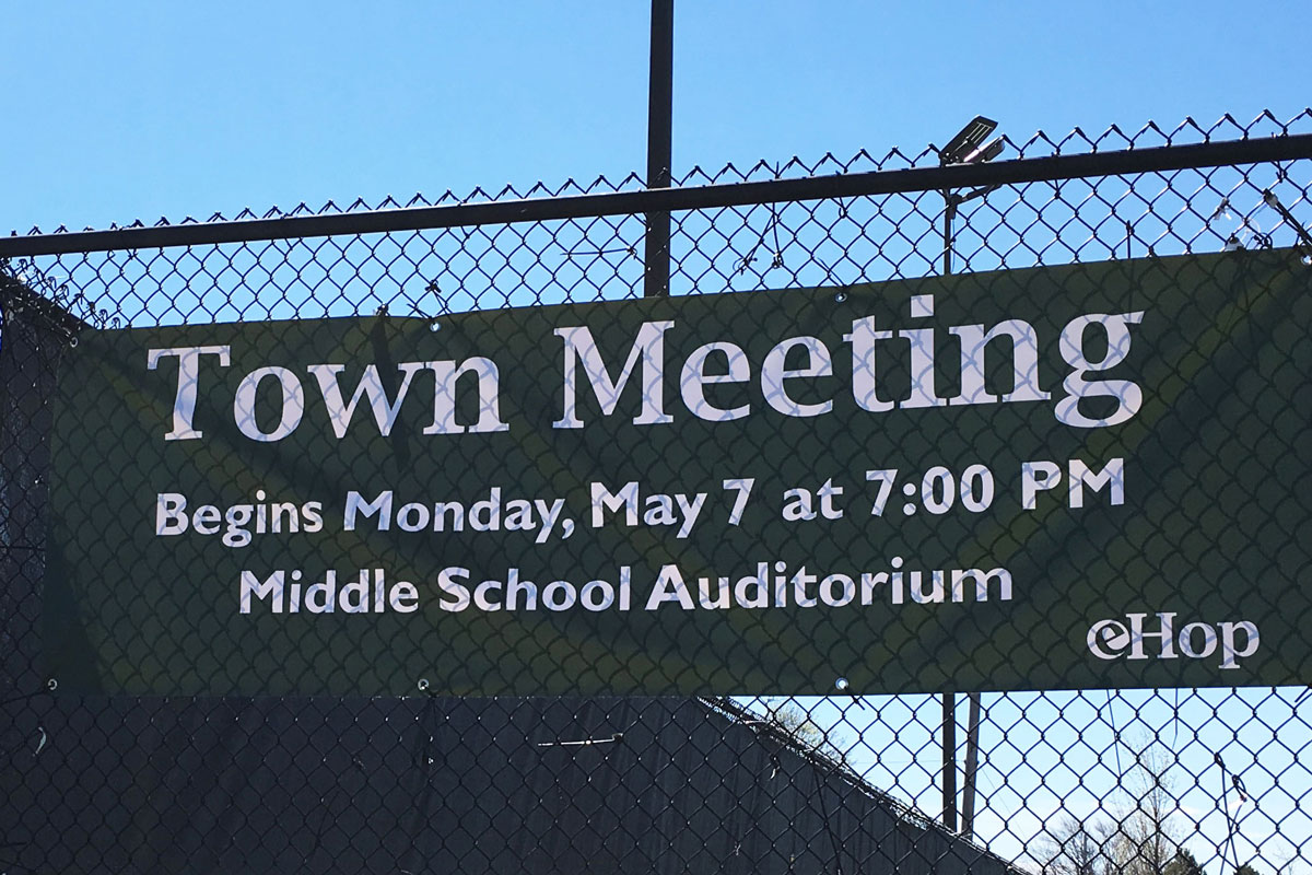 Town Meeting Begins Monday at 7:00 PM