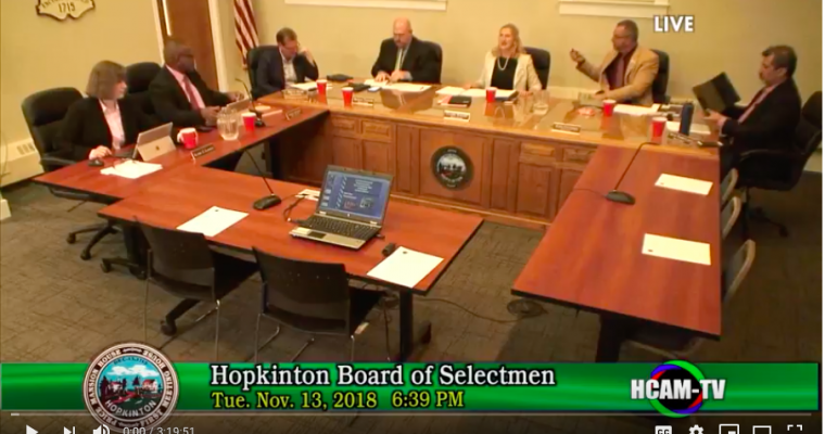 Board of Selectmen Actions Taken 11/13/18