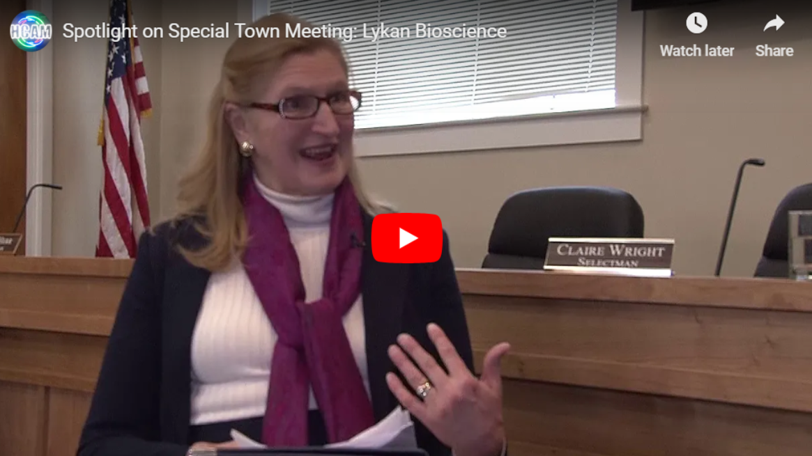 Special Town Meeting: An interview with Claire Wright, Chairman of the Board of Selectmen