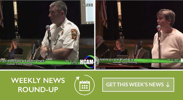 Weekly Roundup – Town Meeting Edition – 05/10/2019