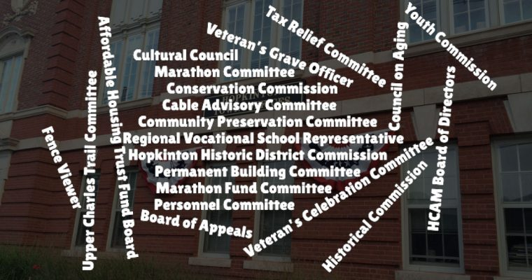 Openings on Town Boards & Committees – Apply Online
