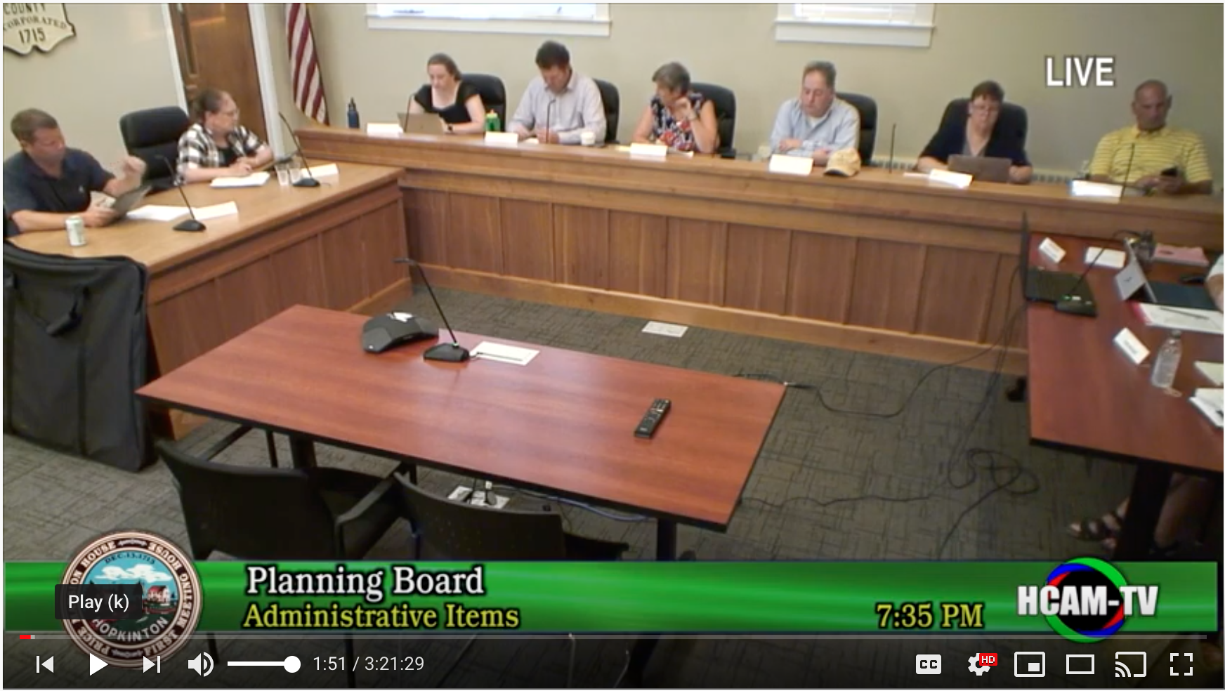 Planning Board Actions Taken 8/12/19