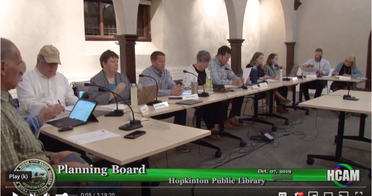 Planning Board Actions Taken 10/7/19