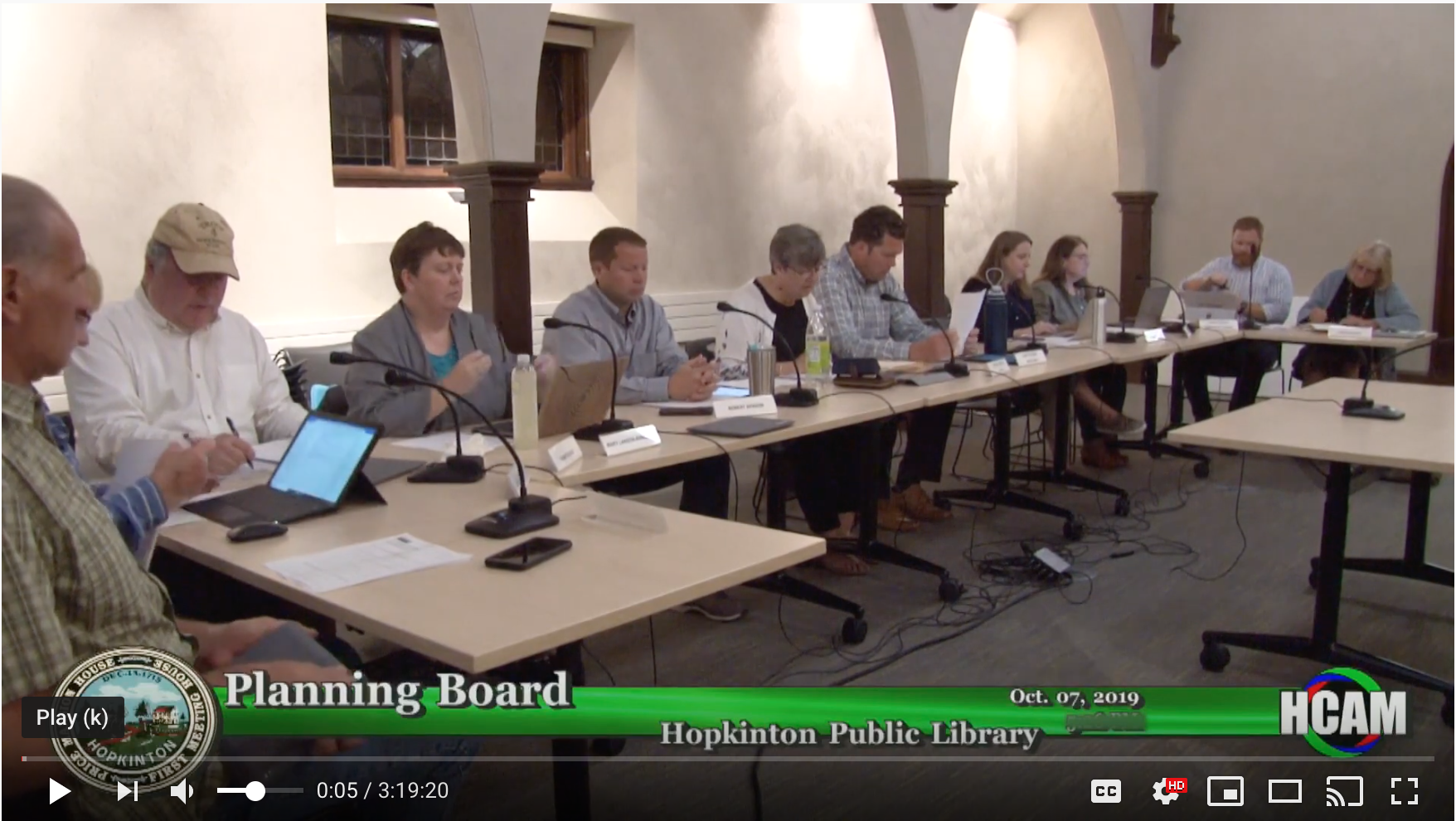 Planning Board Actions Taken 10/7/19