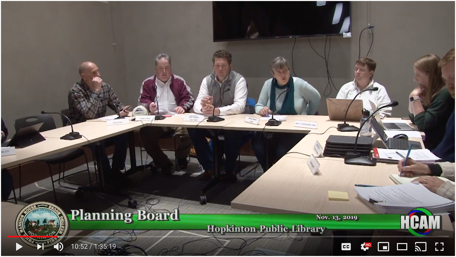 Planning Board Actions Taken 11/13/19