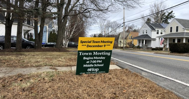 Weekly Roundup – Town Meeting Edition – 12/08/19