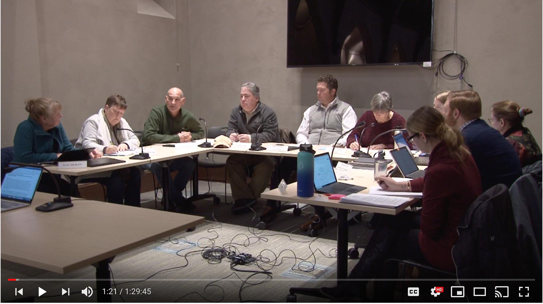 Planning Board Actions Taken 12/16/19