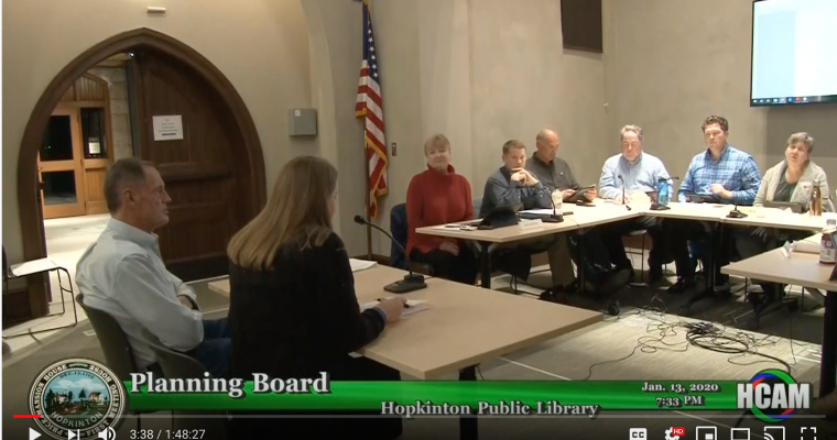 Planning Board Actions Taken 1/13/20
