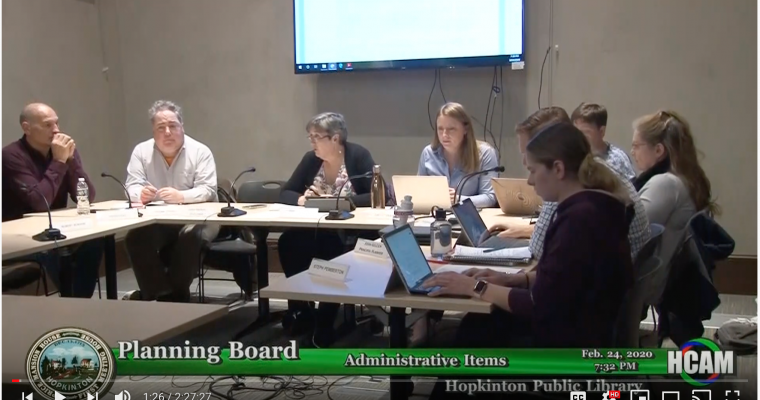 Planning Board Actions Taken 2/24/20