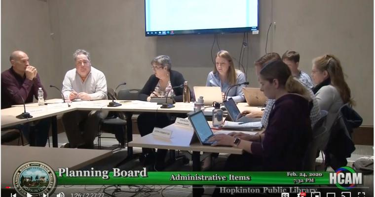 Planning Board Actions Taken 2/24/20
