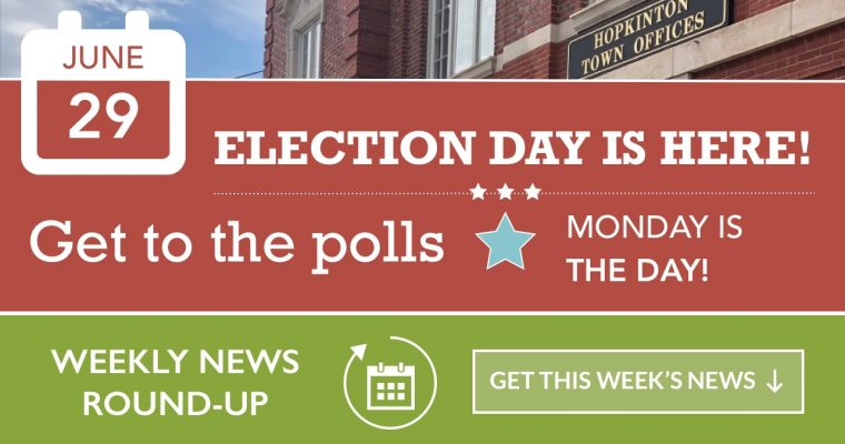 Weekly News Roundup – Town Election Edition – 06/28/2020
