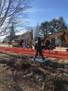 The Marathon Starter amid Construction