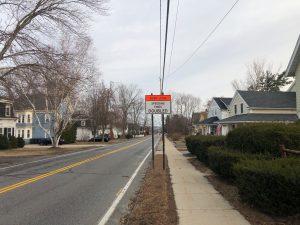 Work Zone Sign Grove Street