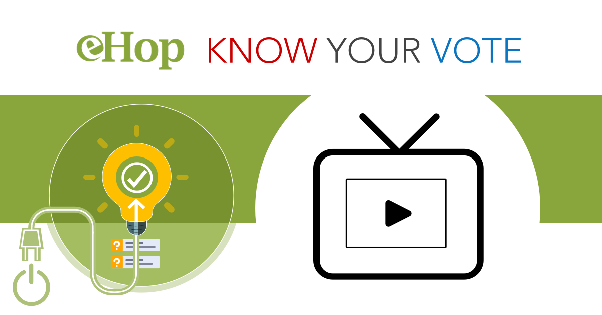 Know Your Vote – Monday, May 3 at 7:00 PM (virtual event)